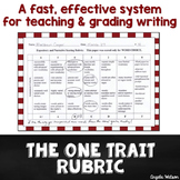 The One Trait Rubric: A fast & effective system for gradin