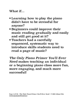 The Only Piano Primer You'll Ever Need