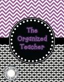 The Organized Teacher {Editable Planner in Black & Purple}