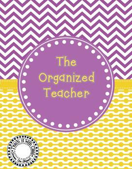 The Organized Teacher {Editable Planner in Purple & Yellow}