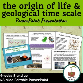 The Origin of Life and Geological Time Scale