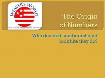 The Origin of Numbers - Who decided numbers should look li
