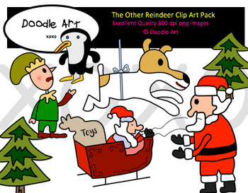 The Other Reindeer Clipart Pack