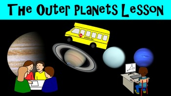 The Outer Planets Lesson with Power Point, Worksheet, and