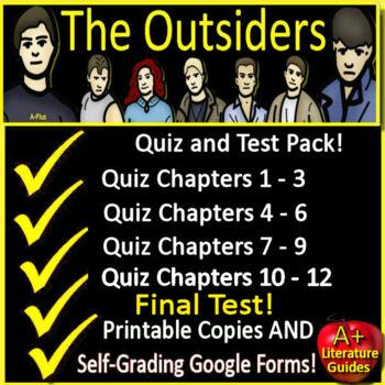 The Outsiders Novel Study Test Bundle Common Core Aligned