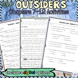 The Outsiders Chapters 7, 8, 9, 10, 11, 12 Activities