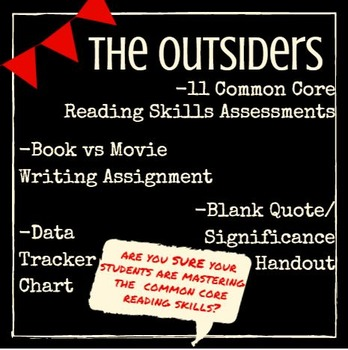 Outsiders: Common Core Chapter Reading Assessments