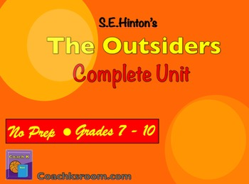 The Outsiders by S.E. Hinton Complete Unit