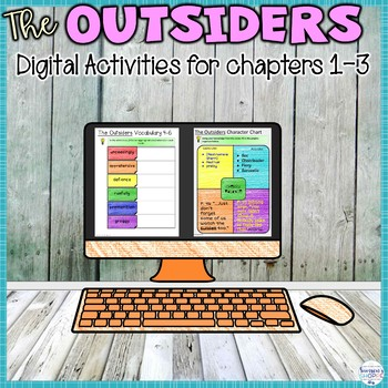 The Outsiders Digital Interactive Notebook - Chapters 1, 2, 3