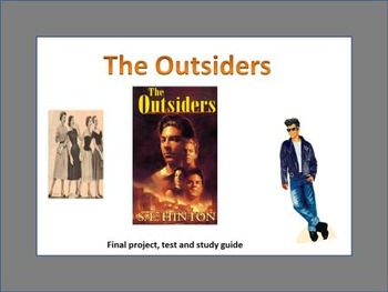 The Outsiders Final Project, Test and study guide