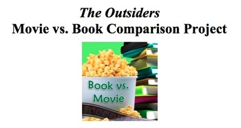 the outsiders movie vs book assignment rl 7 7 by reading is thinking teachers pay teachers. Black Bedroom Furniture Sets. Home Design Ideas