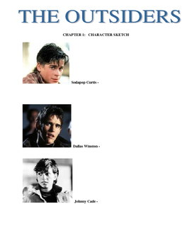 The Outsiders : Novel Study