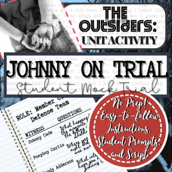 """The Outsiders: """"Johnny on Trial"""" A Mock Activity for Students"""