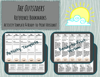 The Outsiders Reference Bookmarks