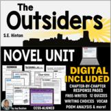 OUTSIDERS - Novel Unit Common Core Aligned