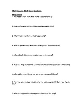 The Outsiders Study Guide Questions