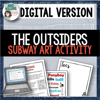 The Outsiders - Subway Art Project / Writing Prompt - GOOG