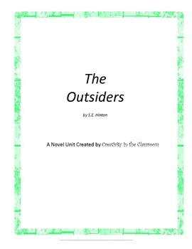 The Outsiders Unit Plus Grammar