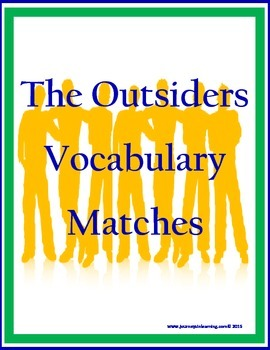 The Outsiders Vocabulary Matches