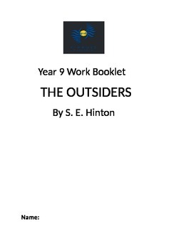 The Outsiders by S.E.Hinton Novel Study Booklet Year 8/9/1