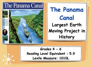 The Panama Canal - Lesson- Grades 3 - 6
