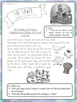 The Parable of the Sower STORY/HANDOUT