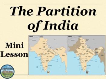 The Partition of India Mini Lesson