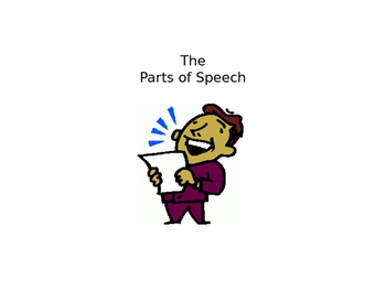 Parts of Speech (PowerPoint)