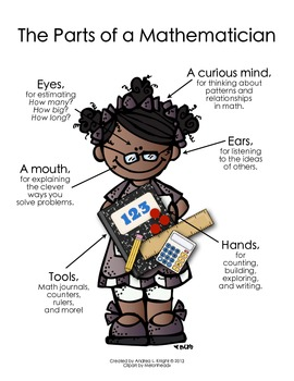 The Parts of a Mathematician {Deeper Skin Tones}