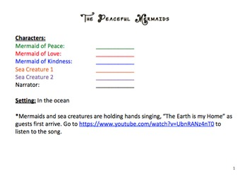 The Peaceful Mermaids Reader's Theater Script (K-3)