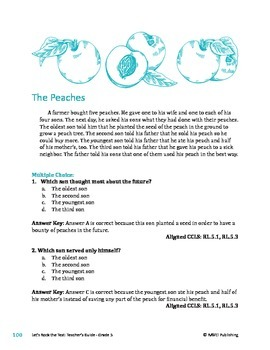 The Peaches - Literary Text Test Prep
