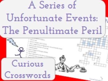 The Penultimate Peril- Worksheet (Book 12 Series of Unfort