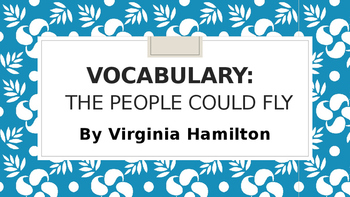 The People Could Fly-Vocabulary