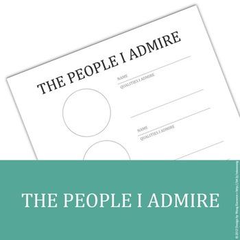 The People I Admire - printable