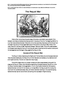 The Pequot Wars Primary and Secondary Source Comparison
