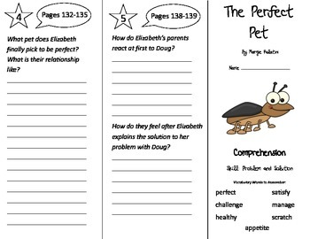 The Perfect Pet Trifold - Treasures 3rd Grade Unit 1 Week