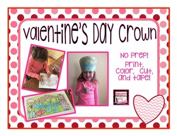 The Perfect Valentine's Day Crown! Freebie! Great for K-5!
