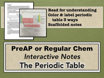 The Periodic Table & Interactive Notes