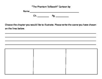 The Phantom Tollbooth - Comic Strip Worksheet