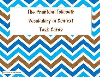 The Phantom Tollbooth Vocabulary Task Cards