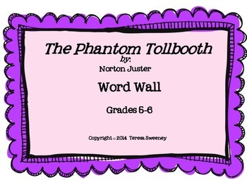 The Phantom Tollbooth Word Wall