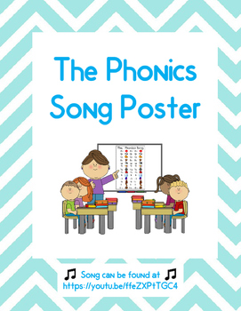 The Phonics Song Posters -- NO PREP!