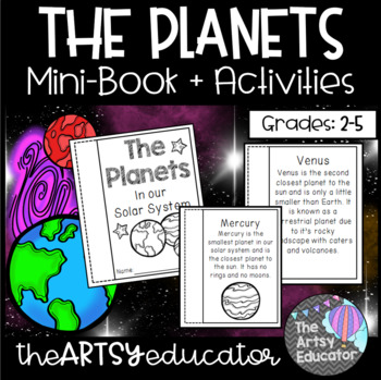 The Planets In Our Solar System Mini Book and Graphic Organizer!