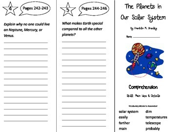 The Planets In Our Solar System Trifold - Treasures 3rd Gr