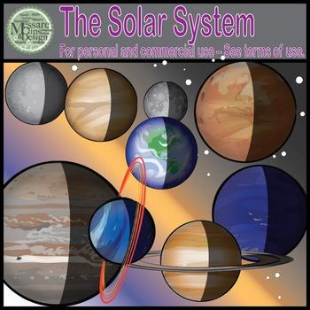 The Planets Clip Art Set (Single Set) {Messare Clips and Design}