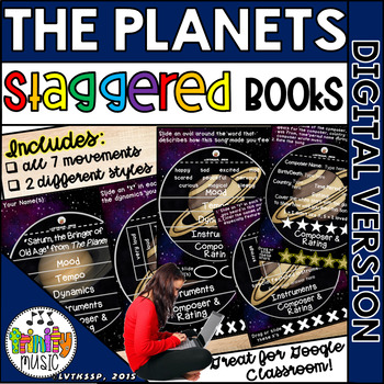 The Planets (by Holst) Staggered Booklets (DIGITAL VERSION)