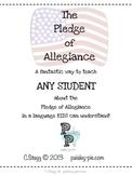 SOCIAL STUDIES: The Pledge of Allegiance Book for Kids