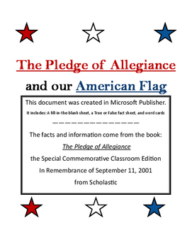 The Pledge of Allegiance and our American Flag