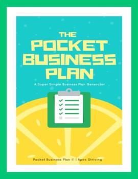 The Pocket Business Plan: A Super Simple Business Plan Gen