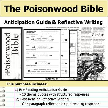 The Poisonwood Bible - Anticipation Guide & Reflection